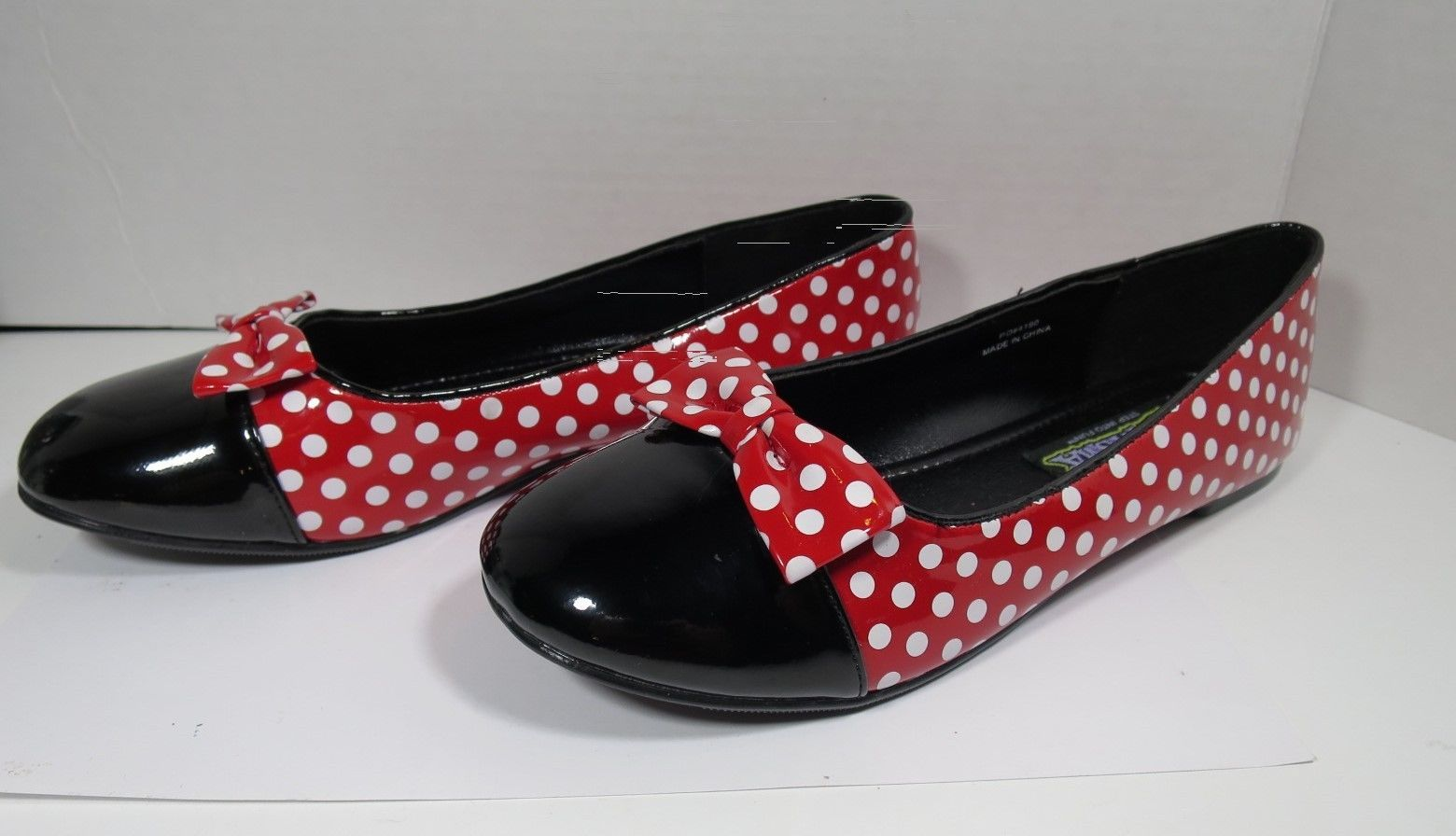 Funtasma Women MOUSE-16 Red Patent Polka Dot Flats Shoes Size 7
