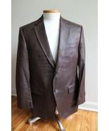 Lauren Ralph Lauren 40 Reg Brown Faux Suede Two-Button Suit Jacket Blazer - $36.10