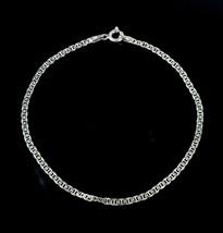 Vintage .925 Sterling Silver Signed P Oval Chain Link Springring Bracele... - $13.70