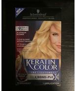 Schwarzkopf Keratin Color K-Bond Platinum Blonde Permanent Color Hair Li... - $44.88