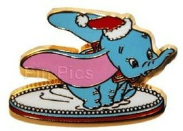 Disney Christmas DLRP Cast Lanyard Skating Santa Dumbo on Ice pin - $30.71
