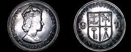 1971 Mauritius 1 Rupee World Coin - Elizabeth II - $10.75
