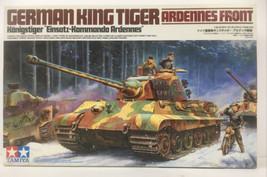 Tamiya German King Tiger–Ardennes Front–Model Tank 1:35 w/ Motorcycle WW... - $29.70