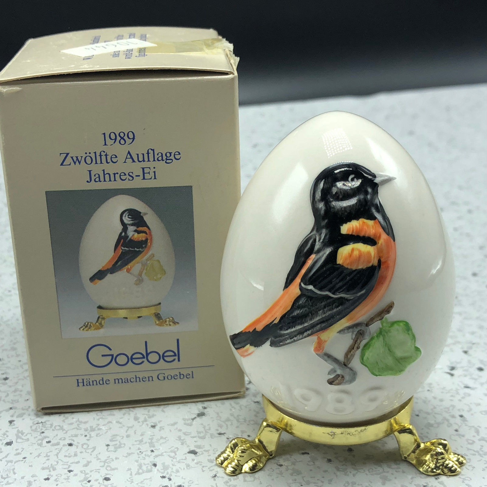 1989 GOEBEL ANNUAL EASTER EGG West Germany 12th edition figurine 51779 Oriole UK
