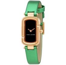 Marc Jacobs Ladies The Jacob Metallic Green Leather Watch 20x31mm MJ1503 NEW! - $65.44