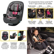 Safety 1St Grow And Go 3-In-1 Convertible Car Seat, Everest Pink - $156.28