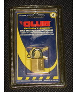 THE CLUB Security Series Solid Brass Padlock Keyed Alike UTL825KA - NEW - $4.95