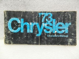 CHRYSLER CHRYS-STD 1973 Owners Manual 16355 - $18.76