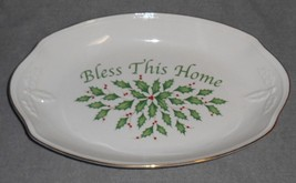 Lenox Dimension HOLIDAY Bless This Home BREAD TRAY - $19.79