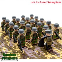 21pcs/set WW2 Army Troops US Military Soldiers with Weapons Blocks Brick Toys - $22.99