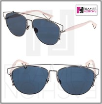 CHRISTIAN DIOR TECHNOLOGIC Ruthenium Pink Blue Flat Sunglasses DIORTECHN... - $296.01