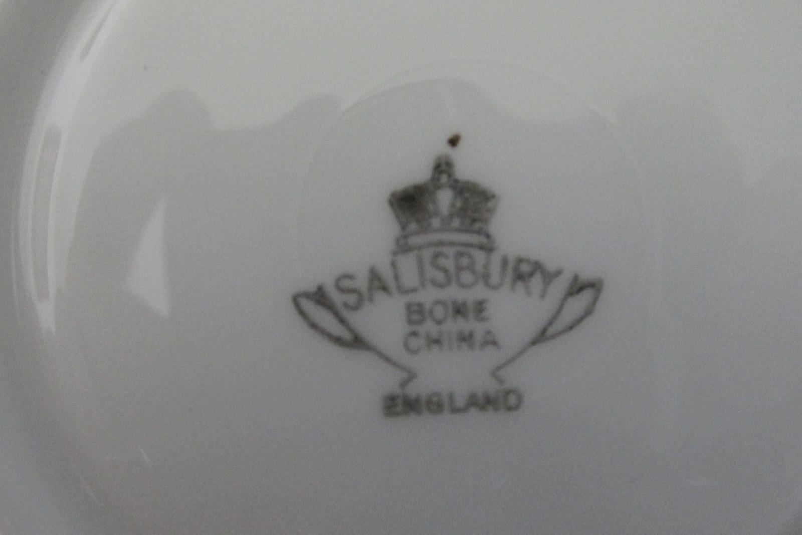 Rare Ship Pattern Cup & Saucer - Salisbury English Bone China, 1950s / 1960s