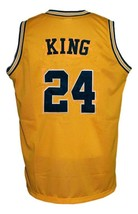Jimmy King #24 College Retro Basketball Jersey Sewn Gold Any Size image 5