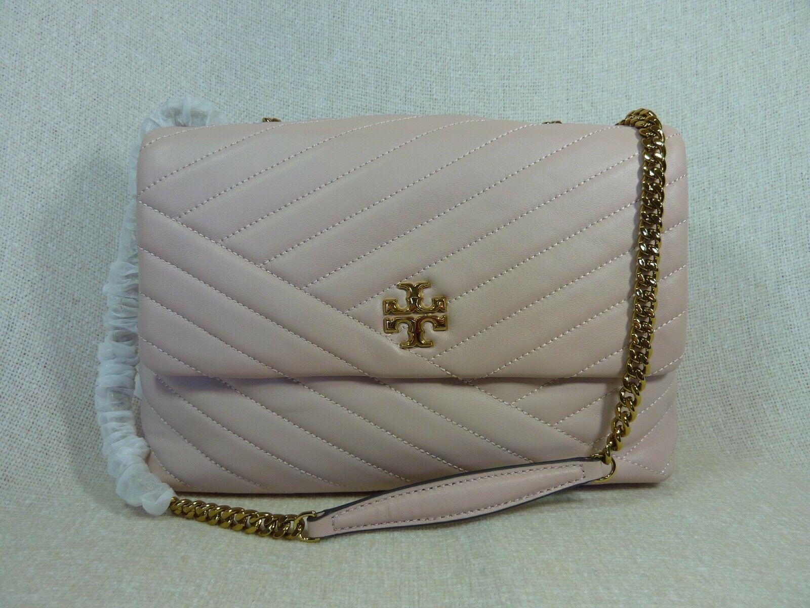 NWT Tory Burch Pink Moon Kira Chevron Convertible Shoulder Bag $528 image 4