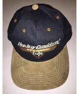 Harley Davidson Cafe New York Ride Free Leather Feel Visor Snapback Cap Hat - $20.57