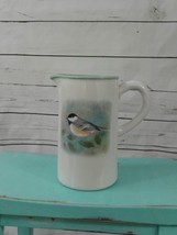 TII COLLECTION Chickadee PITCHER  White Celadon Green Cottage Chic - $93.14