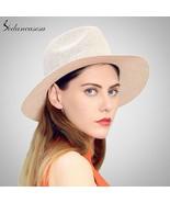 Sedancasesa® Panama Hat For Women Men Wide Brim Sun Hat Fedora Straw Hat... - $18.08