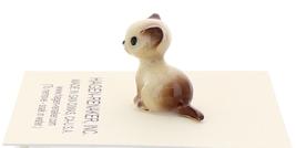 Hagen-Renaker Miniature Cat Figurine Tiny Siamese Kitten Sitting Chocolate Point image 4
