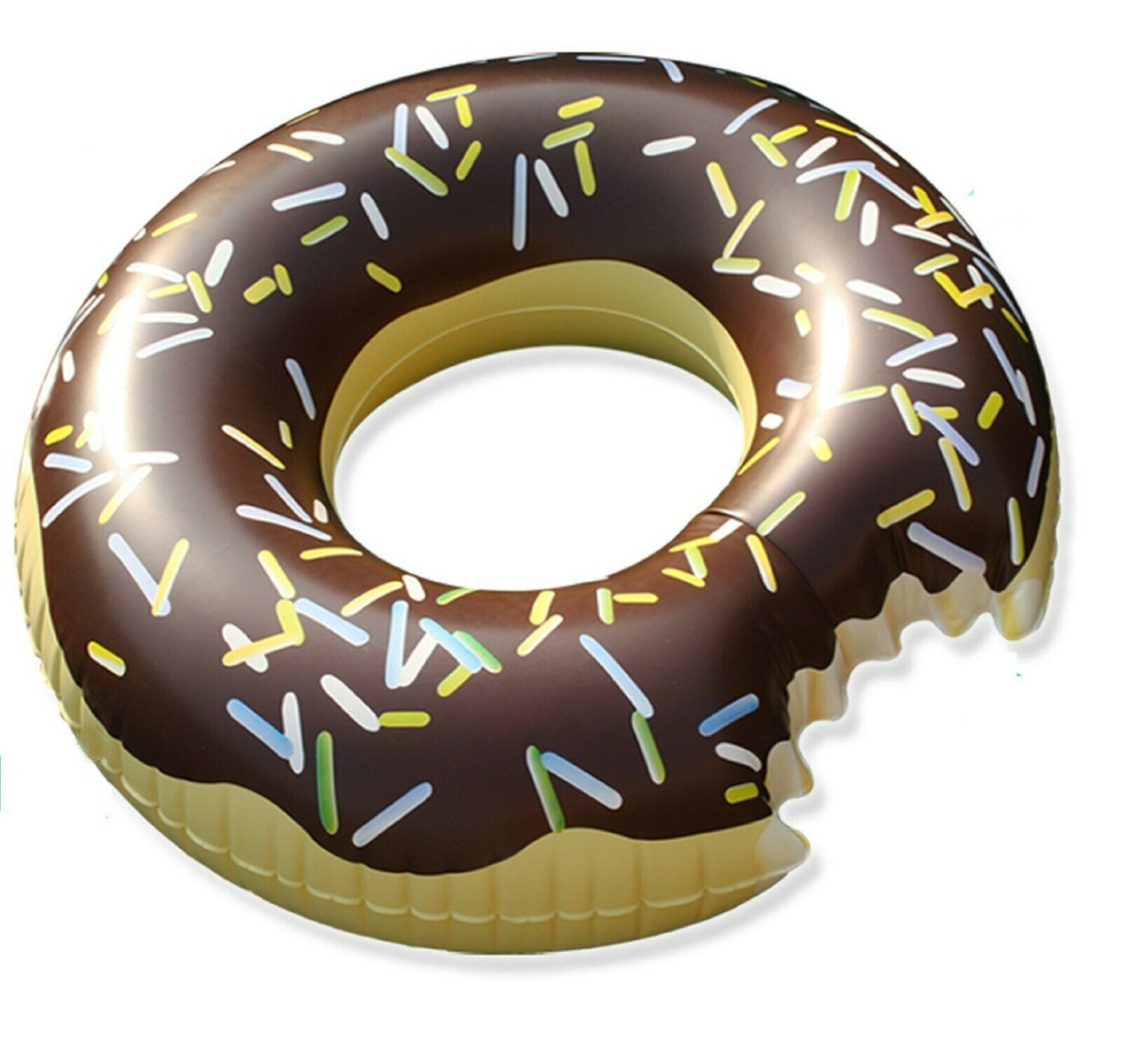 Swim About Large Donut Swim Ring Tube Pool Inflatable Floats for Adults (Brown)