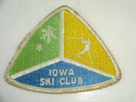 Vintage 1970's Iowa Ski Club Skiing Embroidered Patch Resort Travel - 3.... - $14.58