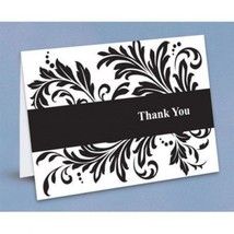 Damask Thank You Cards Party Wedding Gift Thank you Notes 50 Cards w/Env... - $17.81