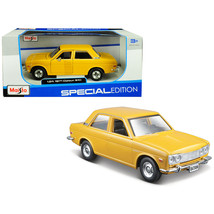1971 Datsun 510 Yellow Special Edition 1/24 Diecast Model Car by Maisto 31518y - $28.33