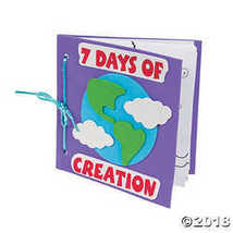 Color Your Own Book About the 7 Days of Creation Craft Kit - $17.85
