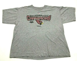 Reebok Arizona Cardinals Shirt Size XL 1X Gray Tee Loose Conference Cham... - $16.05
