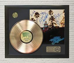 "EAGLES - HOTEL CALIFORNIA FRAMED GOLD LP REPRODUCTION SIGNATURE DISPLAY""M4"" - $151.95"