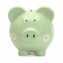 Child to Cherish Large Daisy Pig Bank, Green - $33.65