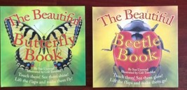 Children's Books Lift Flaps Butterfly Beetle Hardcover Interactive Lot of 2 - $9.49