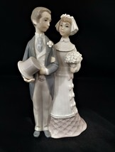 "LLADRO Spain BRIDE and GROOM 7 3/4""h Figurine Wedding Cake Topper #4808 ... - $85.00"