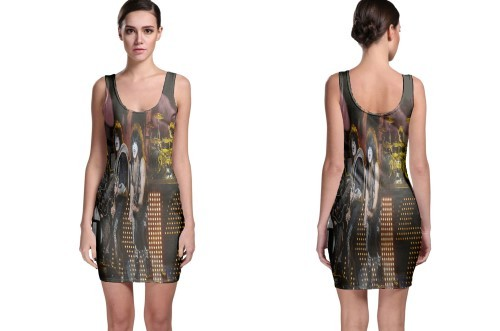 Kiss azkena rock festival bodycon dress