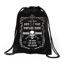 Aged 54 Years Vintage Dude Drawstring Bags - $30.00