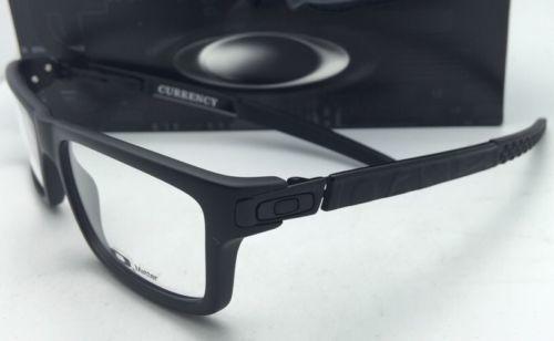 27070fb7e13 New OAKLEY Eyeglasses CURRENCY OX8026-0154 54-17 Satin Black Frames  Demo  Lenses