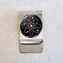 Atomic Symbol Physics Science Stainless Steel Money Clip - $20.00