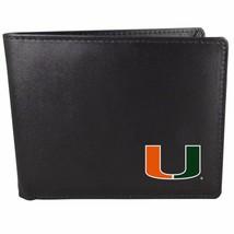 Miami Hurricanes Bi-fold Wallet Black - ID Window Bifold - $17.80