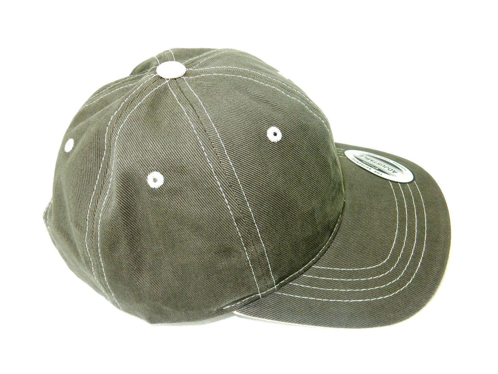 Baseball Cap, 6-Panel FlexFit w/Adjustable Headband, Cotton, Stone/Grey, #6161