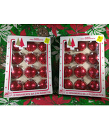 FUN Vintage Kmart Red Glass Ball Ornaments - 2 Boxes 24 Total - $22.00
