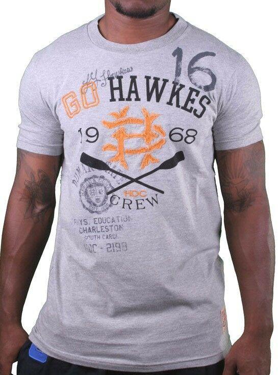 Hawke & Dumar 1968 Go Hawkes Gris Remo Camiseta Nwt