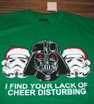STAR WARS Lack of Cheer DARTH VADER STROMTROOPERS CHRISTMAS  T-Shirt 2XL... - $19.80