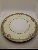 """Vtg Meito China Annette Dinner Plate 10"""" Made in Japan Pink Roses Gold Trim - $16.83"""