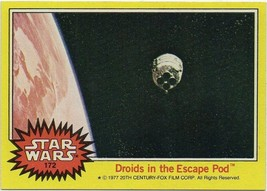 1977 Topps Star Wars Series 3 Yellow #172 Droids In The Escape Pod > Good - €1,08 EUR
