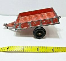 Vintage Diecast Hubley Kiddie Toys Old Red Utility Farm Trailer Wagon NO.5 F/S - $19.80