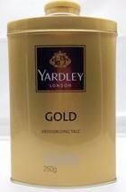 Yardley London - Gold - Talcum Powder Talc 250 grams (8.8 oz ) Tin Box -... - $13.99