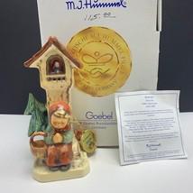 Goebel MJ Hummel club figurine germany box coa 1284 worship hum 84/0 chu... - $67.32