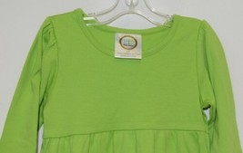 Blanks Boutique Lime Green Long Sleeve Empire Waist Ruffle Dress Size 2T image 2