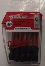 "Milwaukee 48-32-5012 T20 Torx 2"" Impact Screw Bits 15 pk - $8.91"
