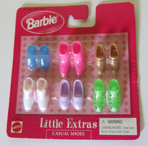 Barbie Doll Little Extras Casual Shoes Pack 1998 NRFP Pink Boots White L... - $16.97
