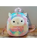 "Kellytoy Squishmallows Backpack Lucy May Tie Dye Llama Corn  Pet Plush 12"" NEW - $45.36"